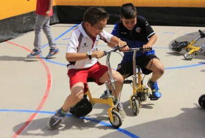 Circuito hinchable de mini-bicis!