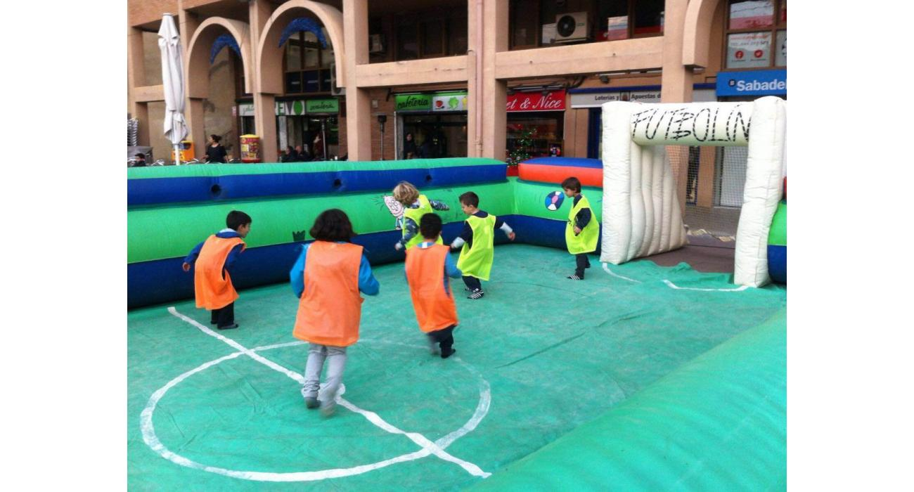 Inflable camp de futbol